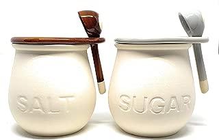 素焼き ポット 調味料入れ sugar salt 砂糖 塩 フタ スプーン 付き セット インスタ