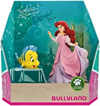 Disney Junior Ariel Princess Mermaid with Pink Dress and Flounder in Gift Box Birthday Party Cake Toppers Topper
