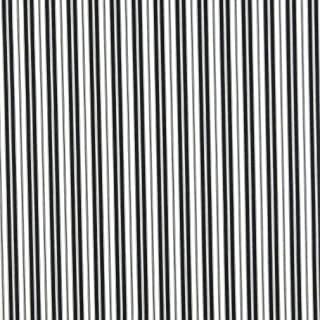 B467 Black Ticking Striped Indoor Outdoor Marine Scotchgard Upholstery Fabric by The Yard