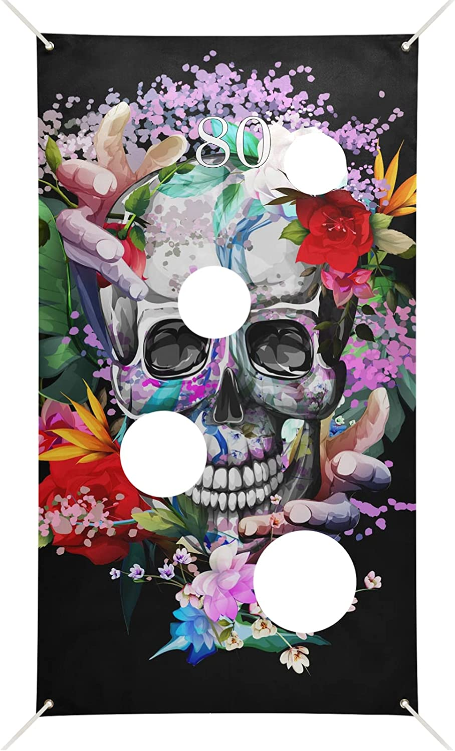 xigua Skull and Flowers Toss Games Baltimore Mall Bags Bean San Jose Mall Indoo 6 with Banner