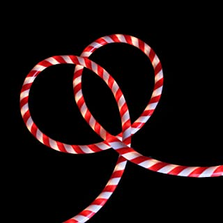 18 Red and White Striped Candy Cane Christmas Rope Light