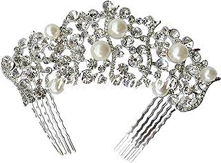 Unik Occasions Crystal Rhinestone Vines Bridal Tiara Hair Comb