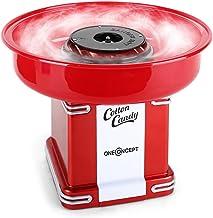 oneConcept Candyland - Machine rétro babe à papa, Machine automatique à barbe à papa, Puissance 500W, Récipient collecteu...