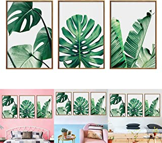 JUSTDOLIFE 3 Piezas Pintura Mural Conjunto Hojas Fotos De La