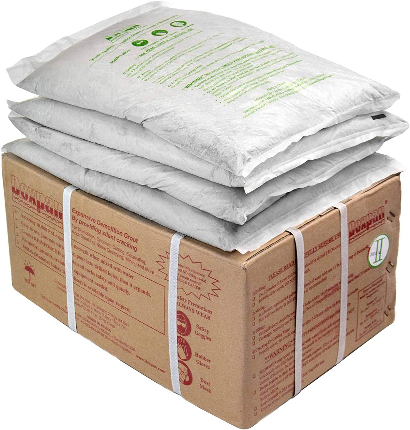 Dexpan Expansive Demolition Opening large release sale Grout 44 Lb. Breaking for Clearance SALE Limited time Rock Box