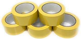 APT, (2'' Width X 36 Yds Length) PVC Marking Tape, Premium Vinyl Safety Marking and Dance Floor Splicing Tape, 6 mil Thick, (Multiple Color) (2'', 5 Roll, Yellow)