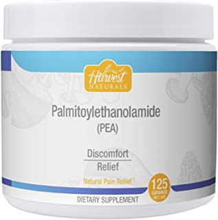 Palmitoylethanolamide (Pea) - Natural Pain Relief Pure Powder - Anti-Inflammatory Supplement - 125 Gram - Harvest Naturals