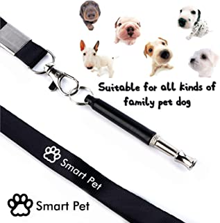 SmartPet Premium Dog Whistle | Professional Dog Whistle to Stop Barking | Adjustable Pitch Ultrasonic Dog Training Tool | Silent Bark Control for Dogs | Premium Lanyard Strap & Training Instruction