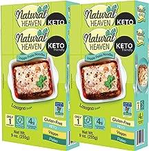 Natural Heaven Lasagna Hearts of Palm Noodles - Low Carb, Gluten Free, Keto Friendly, Vegan, Paleo, Non Gmo, High Fiber, Plant Based, Keto Food, Diabetic Friendly, Keto Noodles 4 Count 9 oz
