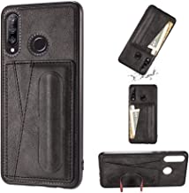 For Huawei Nova 4e Shockproof PC + PU Protective Case with Spring Holder & Card Slot Phone case Fashionable-suitable for gifts (Color : Black)