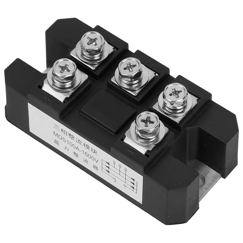 5 bornes rectificador de puente estructura de soldadura trifásica módulo de diodo de onda completa 1600 V 100 A MDS-100 A Alta fiabilidad para la entrada eléctrica del inversor PWM