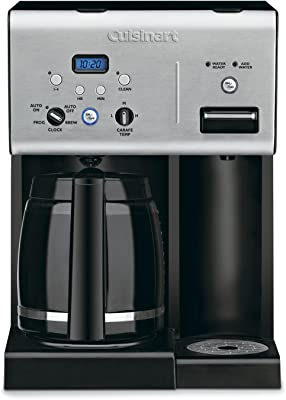 Cuisinart CHW-12P1 12-Cup Programmable Coffeemaker Plus Hot Water System Coffee Maker, Black/Stainless