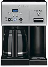 Cuisinart CHW-12 12-Cup Programmable Coffeemaker Plus Hot Water System Coffee Maker, Black/Stainless
