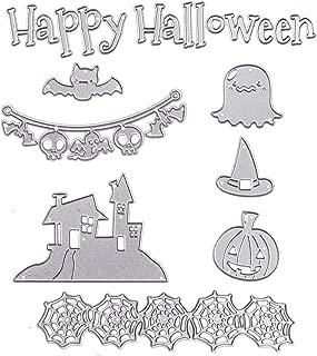Happy Halloween Cutting Dies Set Ghost Pumpkin Skull House Metal Stencil Template for DIY Scrapbook Album Paper Card Making Craft Decoration