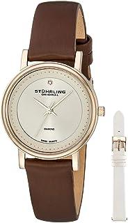 ساعة ستاهرلنغ اورجينال أسكوت 734LS2 للنساء مينا دايموند بسوار جلدي قابل للتبديل - 734LS2.SET.02