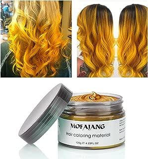 MOFAJANG Hair Coloring Wax Temporary Hairstyle Cream 4.23 oz Hair Pomades Natural Ash Matte Hairstyle Wax for Men and Women (Gold)