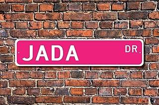 Metal Tin Sign Jada, Jada Sign, Jada Gift, Jada Lover, Child Gift, Grandchild Gift, Jada Birthday Gift, Jada Decor, Street...
