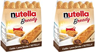 Ferrero: Nutella B-ready a crisp wafer of bread in the form of mini - baguette stuffed with a creamy Nutella * 8 pieces * 5.39 oz (153g) * Pack of 2 [ Italian Import ] by Nutella