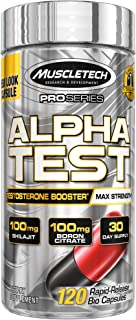 Testosterone Booster for Men | MuscleTech AlphaTest | Tribulus Terrestris for Men | Max-Strength ATP & Test Booster for Me...