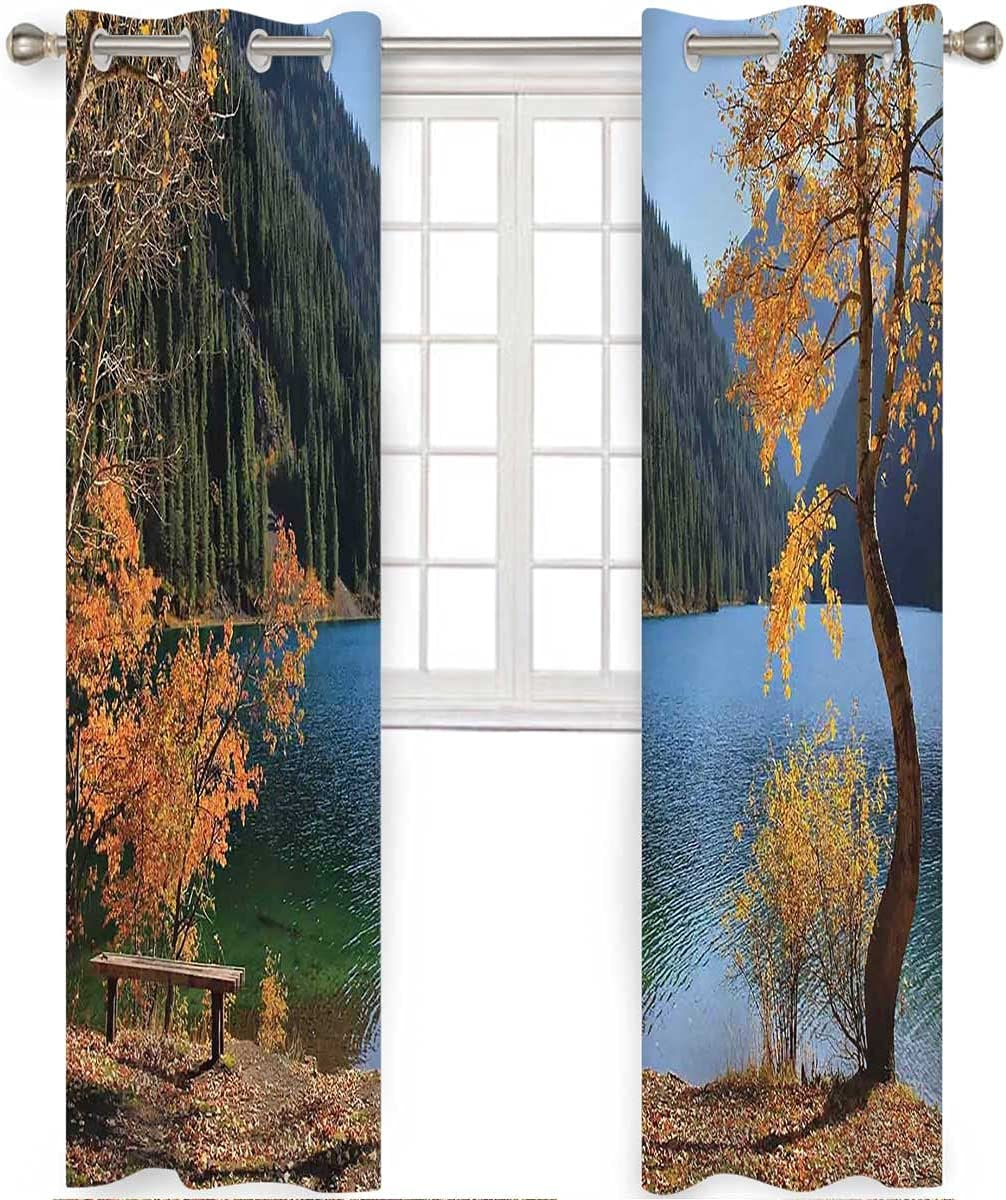 Blackout Ranking TOP5 Curtain Panels 2 Set 96 Lake Length Autumn San Diego Mall Forest Inch
