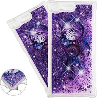 HMTECHUS Sony Xperia XZ Premium case Creative 3D Pattern Quicksand Diamonds Shiny Floating Glitter Flowing Liquid Shockpro...