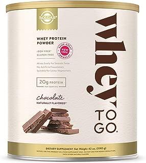 Solgar Whey To Go Whey Protein Powder, Chocolate, 42 ounce