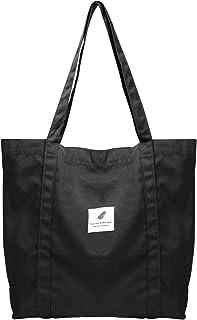 ZhengYue Canvas Umhängetasche Damen, Schultertasche Groß Canvas Tasche Lässige Tote Handtasche Fashion Stofftasche für All...