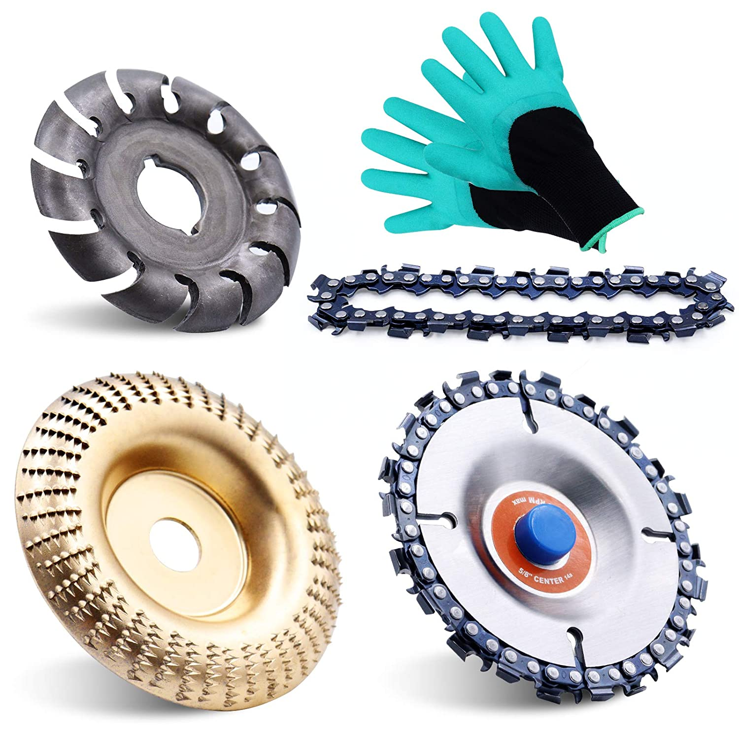 Virginia Beach Great interest Mall 5 Pieces Angle Grinder Disc Set Teet Wheel Carving disc 12 Wood