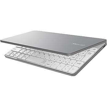マイクロソフト キーボード Bluetooth対応/ワイヤレス/Windows/Androidタブレット/iPad, iPhone対応 グレー Universal Mobile Keyboard P2Z-00051