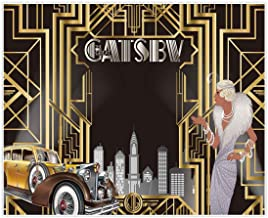 Best Allenjoy 10x8ft Gatsby Themed Backdrop for Adult Celebration Retro Roaring 20s Graduation Party Art Fashion Decor Birthday Wedding Decoration Pictures Background Supplies Photo Booth Prop Review