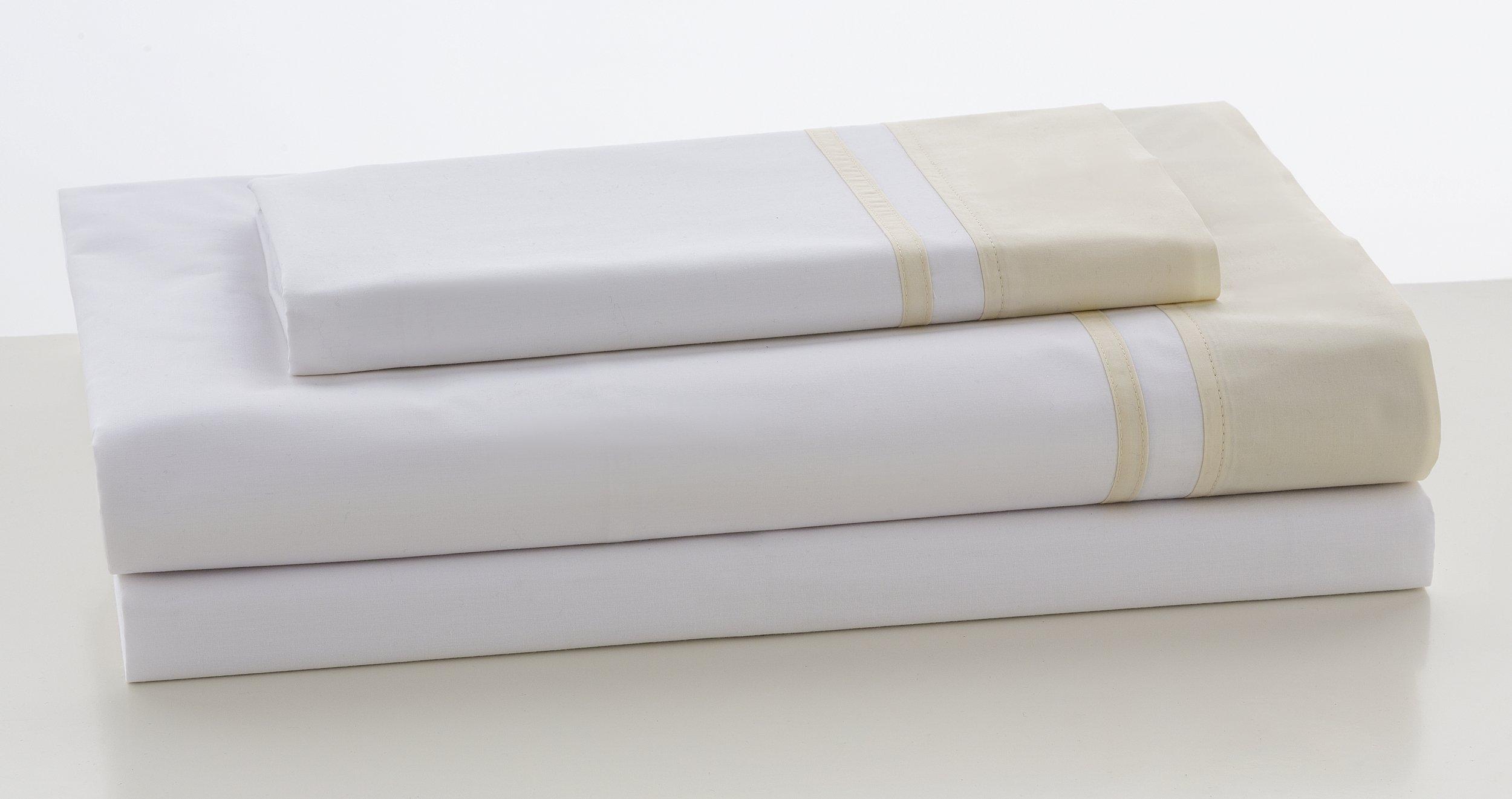 ESTELA - Juego de sábanas Lisos Marbella Color Marfil - Cama de 150 cm (3 Piezas) - 100% Algodón - 200 Hilos - con Bajera Ajustable de 30 cm. de Altura.: Amazon.es: Hogar