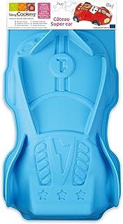 SCRAP COOKING 3133 Moule - Super Car, Silicone, Bleu, 33 x 19 x 6,5 cm