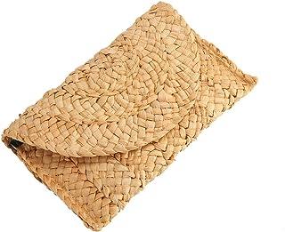 Straw Clutch Summer Evening Handbag Beach Purse Woven Straw Bag Envelope