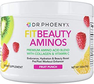 Dr. Phoenyx FitBeauty Amino Acid Blend with Collagen & Vitamin C - Hydration Boost, Healthy Metabolism, Healthy Skin - Ket...
