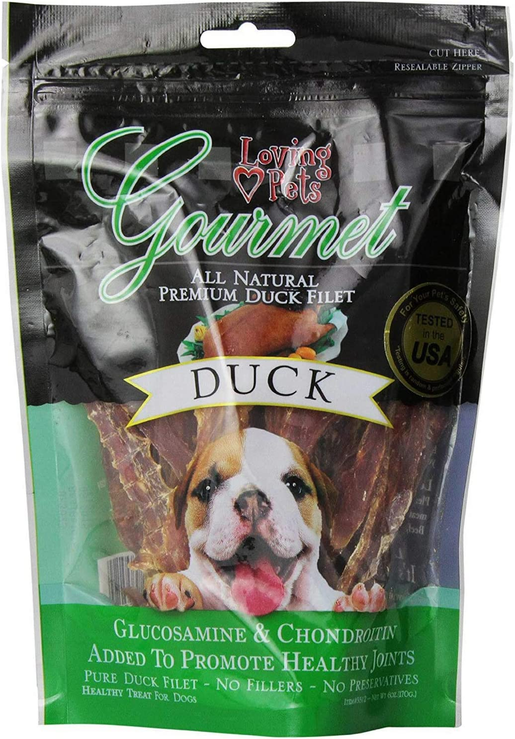 Loving Pets Cheap mail order sales Corp. Gourmet Austin Mall Meat Treat Duck 8oz
