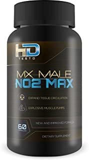 Mx Male N02 Max - by HD Testo - Boost Blood Circulation - Expand Tissue - Recover Quicker - Increased Nutrition Delivery - Feel Power - Made with L-Citruline, L-Arginine, Dipotassium Phosphate -