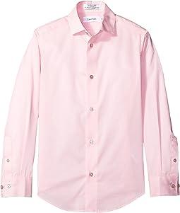 Long Sleeve Solid Stretch Poplin Shirt (Big Kids)