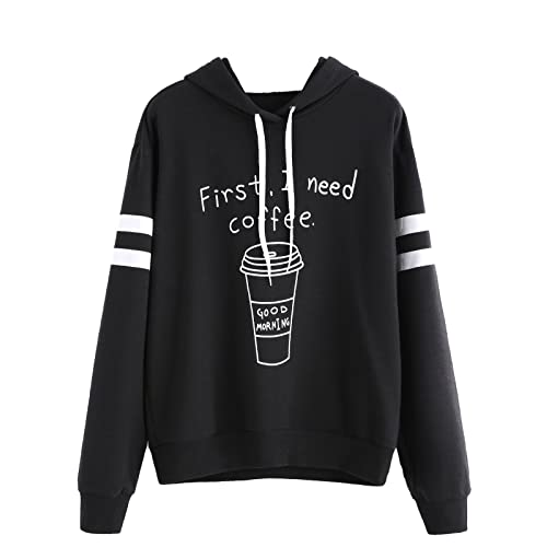 COFFEE COFFEE COFFEE  LUKE/'S DINER Womens Navy Hoodie