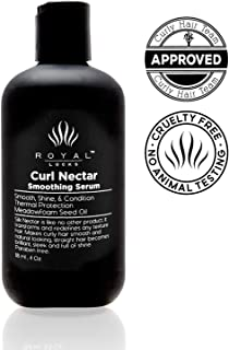 Curl Serum Curly Hair Product for Smoothing Glossing Conditioning Lightweight Blend to Dismiss Frizz by Royal Locks. Fight humidity and reenergize your curls or smooth your blow out