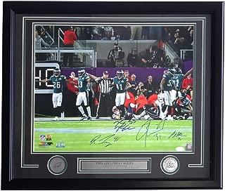 Darby Bradham Mills Robinson Signed & Framed 16x20 Eagles Super Bowl 52 Photo JSA