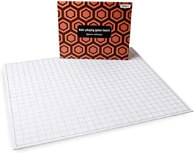 Hexers Role-Playing Game Board lite Vinyl Mat Alternative Dungeons and Dragons DND Pathfinder RPG Compatible, 27 on 23 inches, 1 inch Squares on one Side, Hexes on Other Side, Foldable and Dry Erase