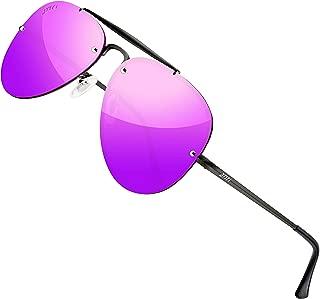 ATTCL Unisex Mirrored UV400 Polarized Sunglasses for Men Women Driving Fishing Metal Lightweight