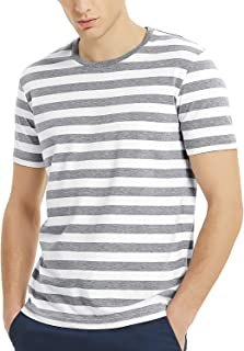 Zengjo Mens Striped Shirt