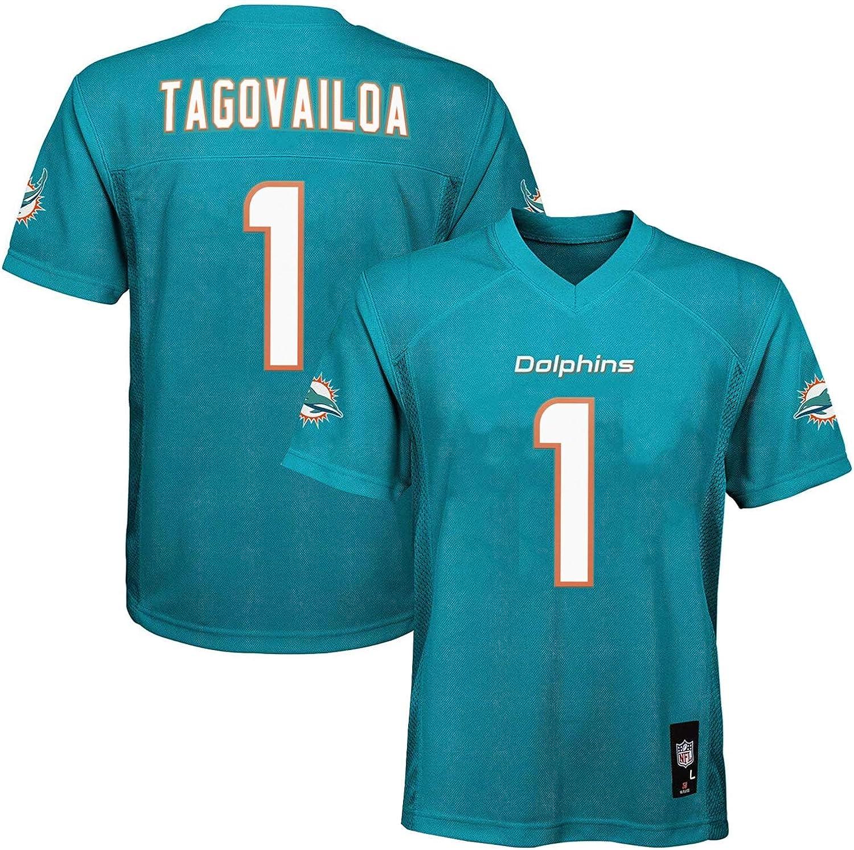 Tua Max 41% OFF Tagovailoa Miami Dolphins Nashville-Davidson Mall NFL Boys Aqua 8-20 Blue Home Youth