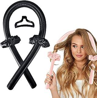 Heatless Hair Curlers for Long Hair to Sleep in Overnight,No Heat Silk Curls Headband, Soft Foam Hair Rollers, Curling Rib...