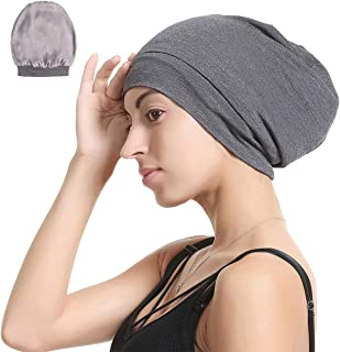 Satin Silk Lined Sleep Cap Beanie Slap Hat – Bamboo Outer