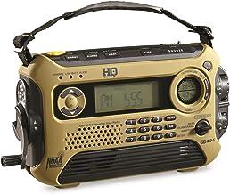 HQ ISSUE Digital Multi-Band Solar Powered Weather Radio, Olive Drab