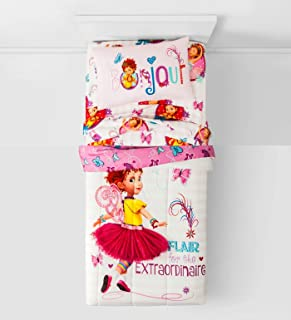 Fancy Nancy 4 Piece Bedding Set Comforter + Sheets (Twin Size)