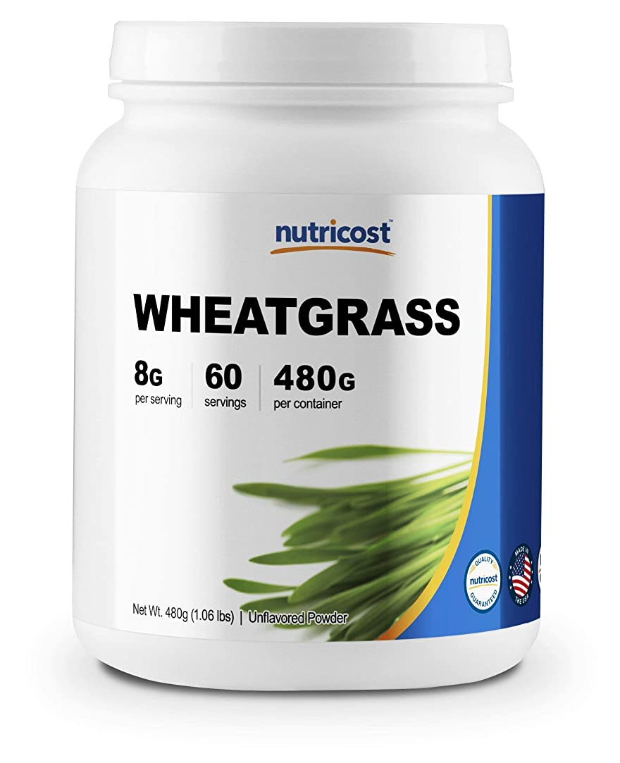 寝る吐くケープNutricost ウィートグラスパウダー (小麦若葉)、60食分、非GMO、グルテンフリー