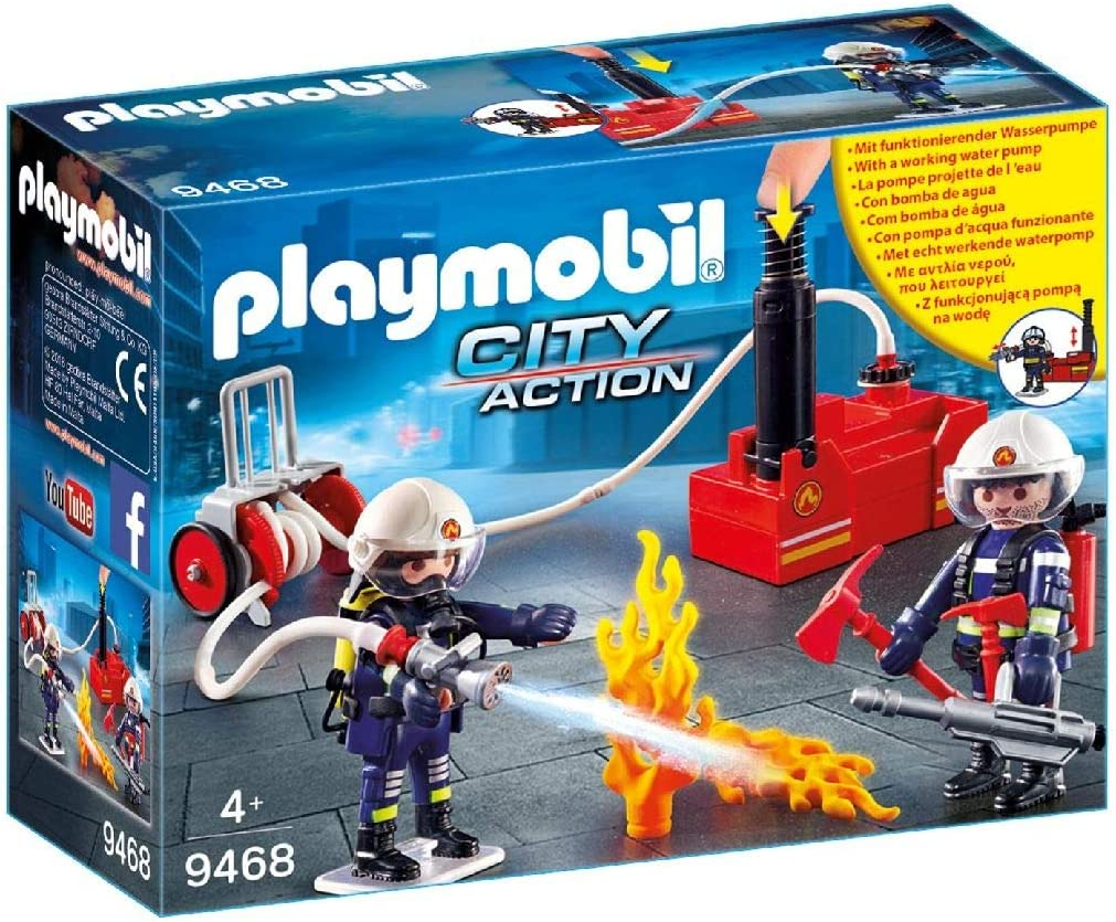 PLAYMOBIL 40 Piece Max 83% OFF Firefighters Water Pump Max 90% OFF with
